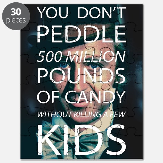 Willy Wonka Peddle Candy Killing Kids Puzzle