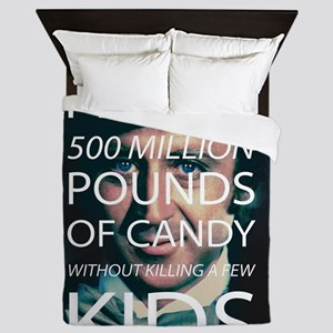 Willy Wonka Peddle Candy Killing Kids Queen Duvet