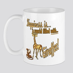 Happiness is a giraffe Mug