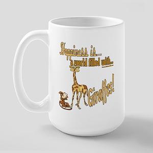 Happiness is a giraffe Large Mug