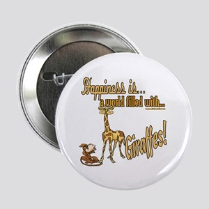 Happiness is a giraffe Button