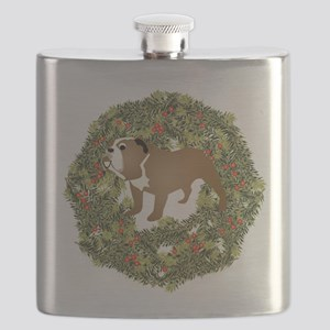 2-WreathBulldog2 Flask