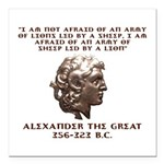 Alexander the Great Square Car Magnet 3