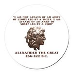 Alexander the Great Round Car Magnet
