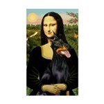 Mona's Doberman Sticker (Rectangle)