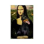 Mona's Doberman Rectangle Magnet (10 pack)