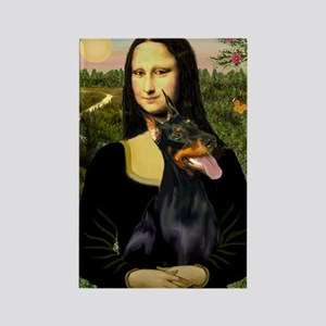 Mona's Doberman Rectangle Magnet