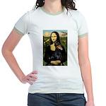 Mona's Doberman Jr. Ringer T-Shirt