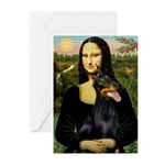 Mona's Doberman Greeting Cards (Pk of 10)
