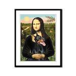 Mona's Doberman Framed Panel Print