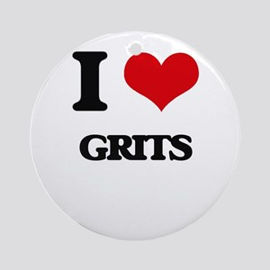 I Love Grits Ornament (Round)
