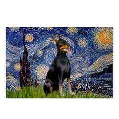 Starry Night Doberman Postcards (Package of 8)