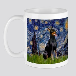 Starry Night Doberman Mug