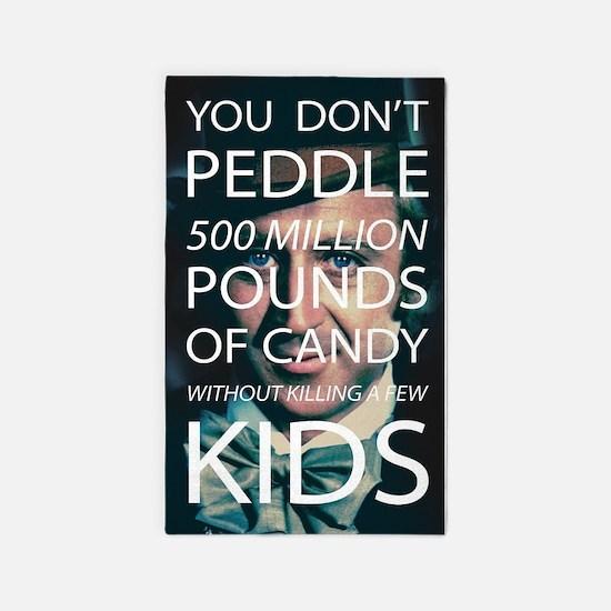 Willy Wonka Peddle Candy Killing Kids Area Rug
