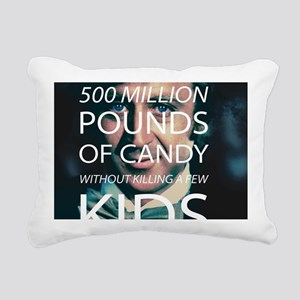 Willy Wonka Peddle Candy Rectangular Canvas Pillow