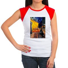 Cafe & Doberman Women's Cap Sleeve T-Shirt