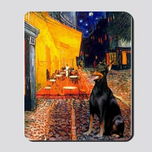 Cafe & Doberman Mousepad
