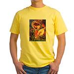 Mandolin Angel & Dobie Yellow T-Shirt