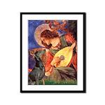 Mandolin Angel & Dobie Framed Panel Print