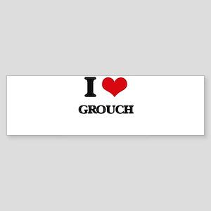 I Love Grouch Bumper Sticker