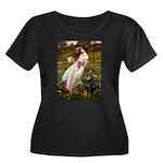 Windflowers / Doberman Women's Plus Size Scoop Nec