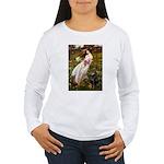 Windflowers / Doberman Women's Long Sleeve T-Shirt