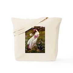 Windflowers / Doberman Tote Bag