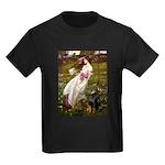 Windflowers / Doberman Kids Dark T-Shirt