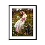 Windflowers / Doberman Framed Panel Print