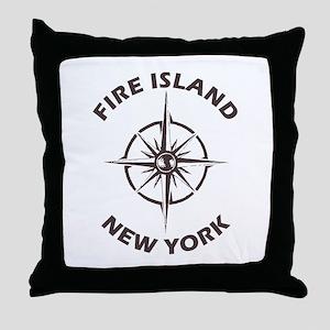 New York - Fire Island Throw Pillow