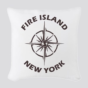 New York - Fire Island Woven Throw Pillow