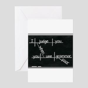 Grammar Diagram (Blk) Greeting Cards