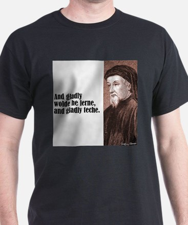 "Chaucer ""Gladly Lerne"" T-Shirt"
