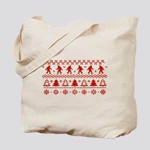 Gone Squatchin Sasquatch Ugly Xmas Sweater Tote Ba