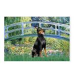 Bridge / Doberman Postcards (Package of 8)