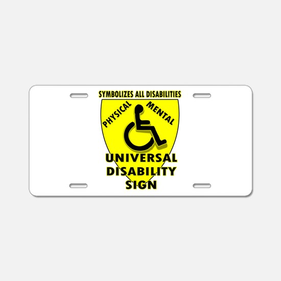 DISABILITY SIGN Aluminum License Plate