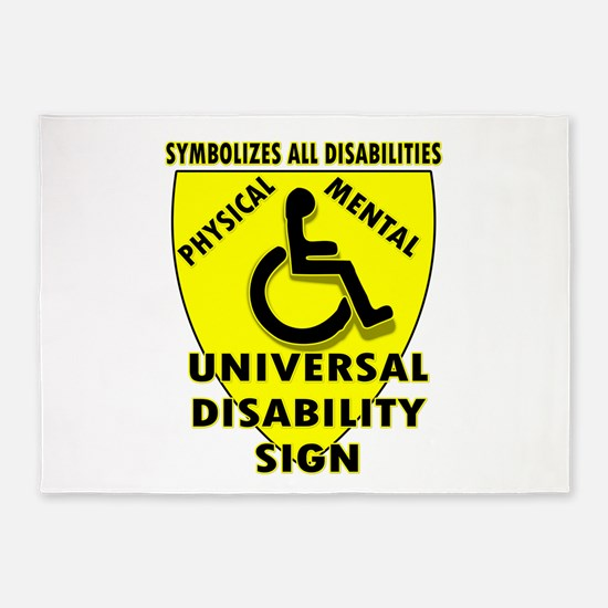 DISABILITY SIGN 5'x7'Area Rug