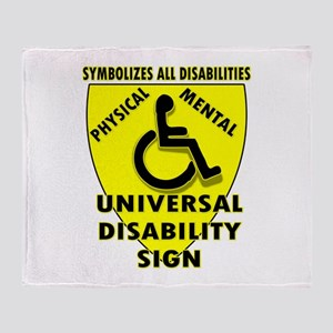 DISABILITY SIGN Throw Blanket