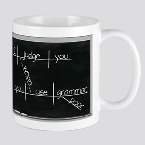 Grammar Diagram (Blk) Mugs