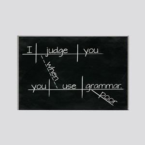 Grammar Diagram (Blk) Magnets