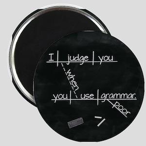 Grammar Diagram (Blk sq) Magnets