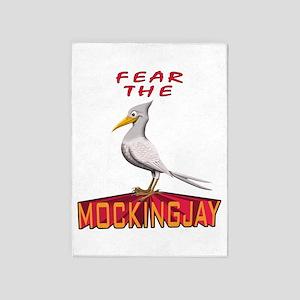 Fear the Mockingjay 5'x7'Area Rug