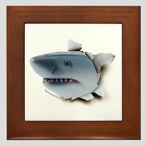 Shark Burster Framed Tile