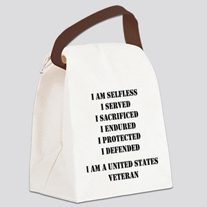 I Am A United States Veteran Canvas Lunch Bag
