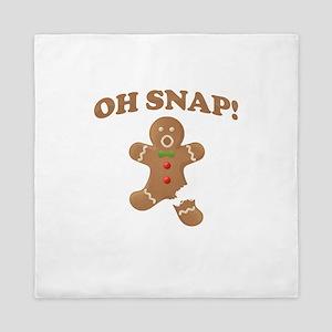 Oh, SNAP! Gingerbread Man Queen Duvet