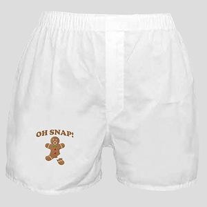 Oh, SNAP! Gingerbread Man Boxer Shorts