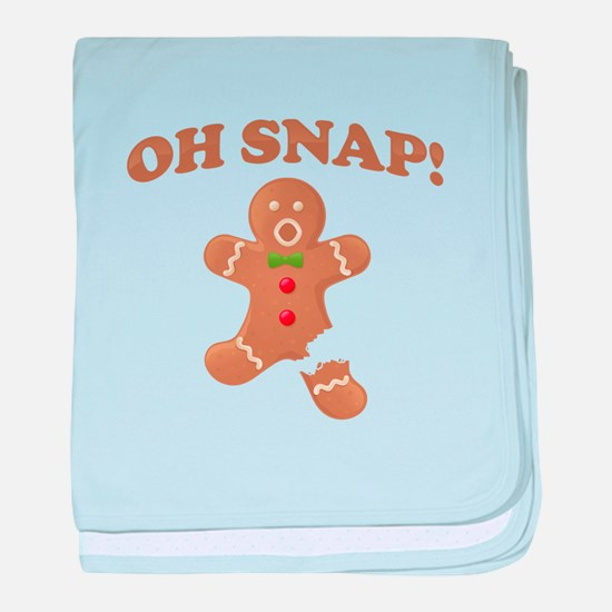Oh, SNAP! Gingerbread Man baby blanket