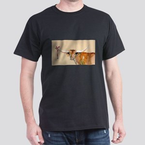Long Horn Christmas Dark T-Shirt