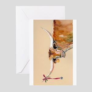 Long Horn Christmas Greeting Cards (Pk of 20)