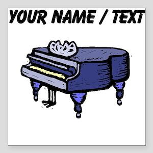 "Custom Piano Square Car Magnet 3"" x 3"""